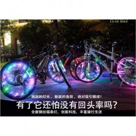 Lampu Roda Sepeda 20 LED 7 Color - Black - 6
