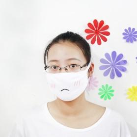 Masker Emoji Lucu Anti Polusi Udara - Model 2 - White - 3