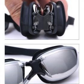 Kacamata Renang Minus 3.0 Anti Fog UV Protection G7800M - Black - 3