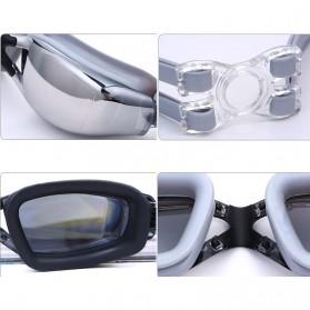 ZHENYA Kacamata Renang Minus 3.5 Anti Fog UV Protection G7800M - Black - 2