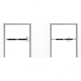 ITSTYLE Tiang Latihan Pull Up Pintu Long Grip 82-130cm - YW506488 - Black/Red - 6