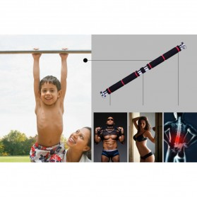 ITSTYLE Tiang Latihan Pull Up Pintu Long Grip 82-130cm - YW506488 - Black/Red - 7
