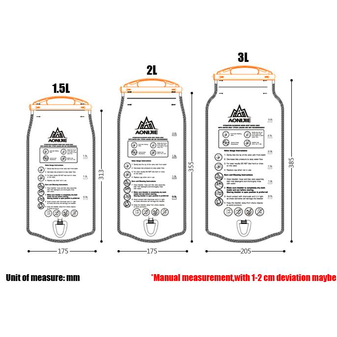 ... Aonijie Kantung Air Water Bladder Hydration Bag 2L - SD12 - Blue - 9 ...