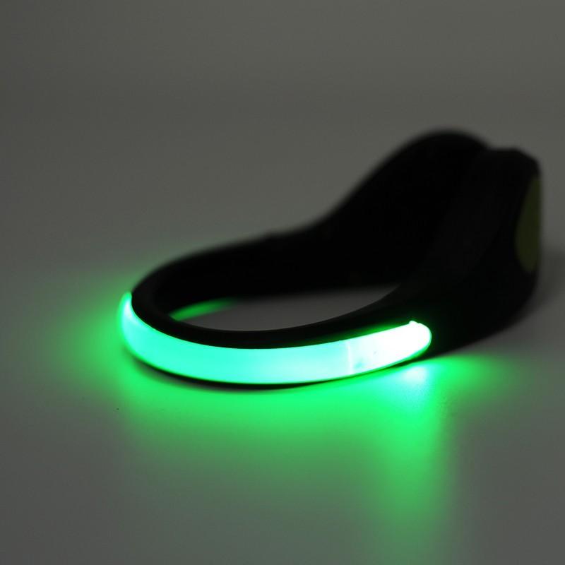 Klip Lampu Sepatu LED Safety Light - Green - 2