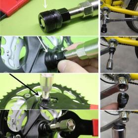 HARKO Kunci Trekker Pembuka Crankset Sepeda Bike Crank Remove Tool - X901 - Silver Black - 2