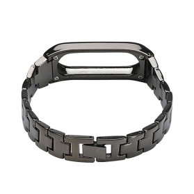 Watchband Elegant Stainless Steel Xiaomi Mi Band 2 - Rose Gold - 2
