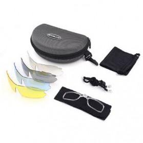 SPOSUNE Kacamata Sepeda Olahraga Polarized - ST-009 - White/Red - 4