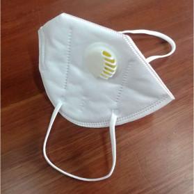 3D Masker Filter Udara Anti Polusi Respirator N95 - 9001V - White - 2