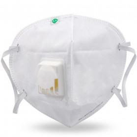 3D Masker Filter Udara Anti Polusi Respirator N95 - 9001V - White - 5