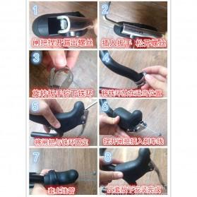 ZTTO Handle Rem Sepeda Bike Brake Lever Aluminium 22.2 - 23.8mm - CBL-09 - Black - 2