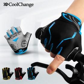 CoolChange Sarung Tangan Sepeda Half Finger Sporty Size M - Black Blue - 2