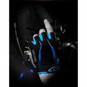 CoolChange Sarung Tangan Sepeda Half Finger Sporty Size M - Black Blue - 5