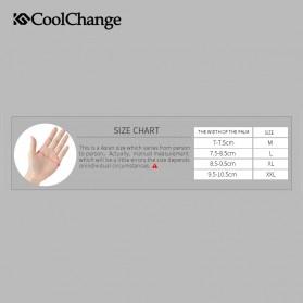 CoolChange Sarung Tangan Sepeda Half Finger Sporty Size M - Black Blue - 6