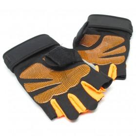 Sarung Tangan Half Finger Sepeda Fitnes Size L - Black/Orange - 5