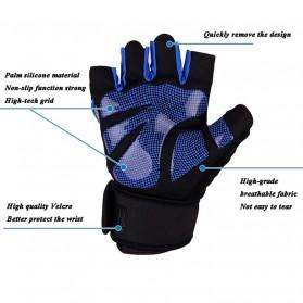 Sarung Tangan Half Finger Sepeda Fitnes Size L - Black/Orange - 7