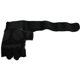 Sarung Tangan Half Finger Sepeda Fitnes Size L - Black/Orange - 9