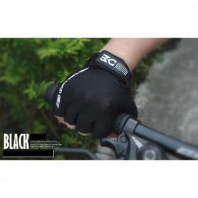 BASECAMP Sarung Tangan Olahraga Sepeda Half Finger Size L - Black - 2