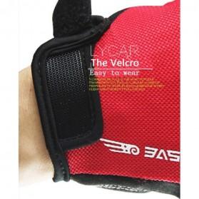 BASECAMP Sarung Tangan Olahraga Sepeda Half Finger Size L - Black - 4