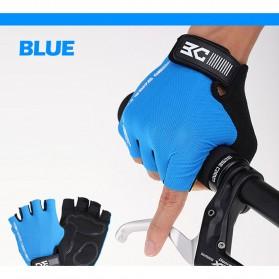 Sarung Tangan Motor - BASECAMP Sarung Tangan Olahraga Sepeda Half Finger Size L - Blue