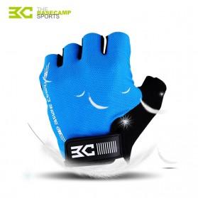 BASECAMP Sarung Tangan Olahraga Sepeda Half Finger Size L - Blue - 2