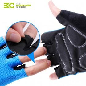 BASECAMP Sarung Tangan Olahraga Sepeda Half Finger Size L - Blue - 3