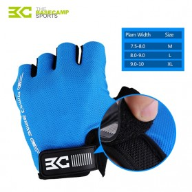 BASECAMP Sarung Tangan Olahraga Sepeda Half Finger Size L - Blue - 4