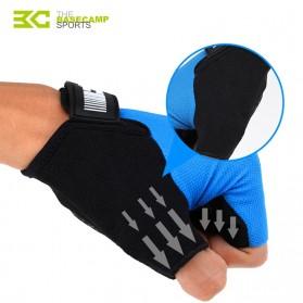 BASECAMP Sarung Tangan Olahraga Sepeda Half Finger Size L - Blue - 5