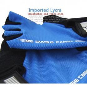 BASECAMP Sarung Tangan Olahraga Sepeda Half Finger Size L - Blue - 6
