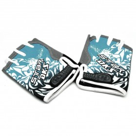 HOTLLR Sarung Tangan Olahraga dengan 3D Shockproof Gel Size XL - Blue