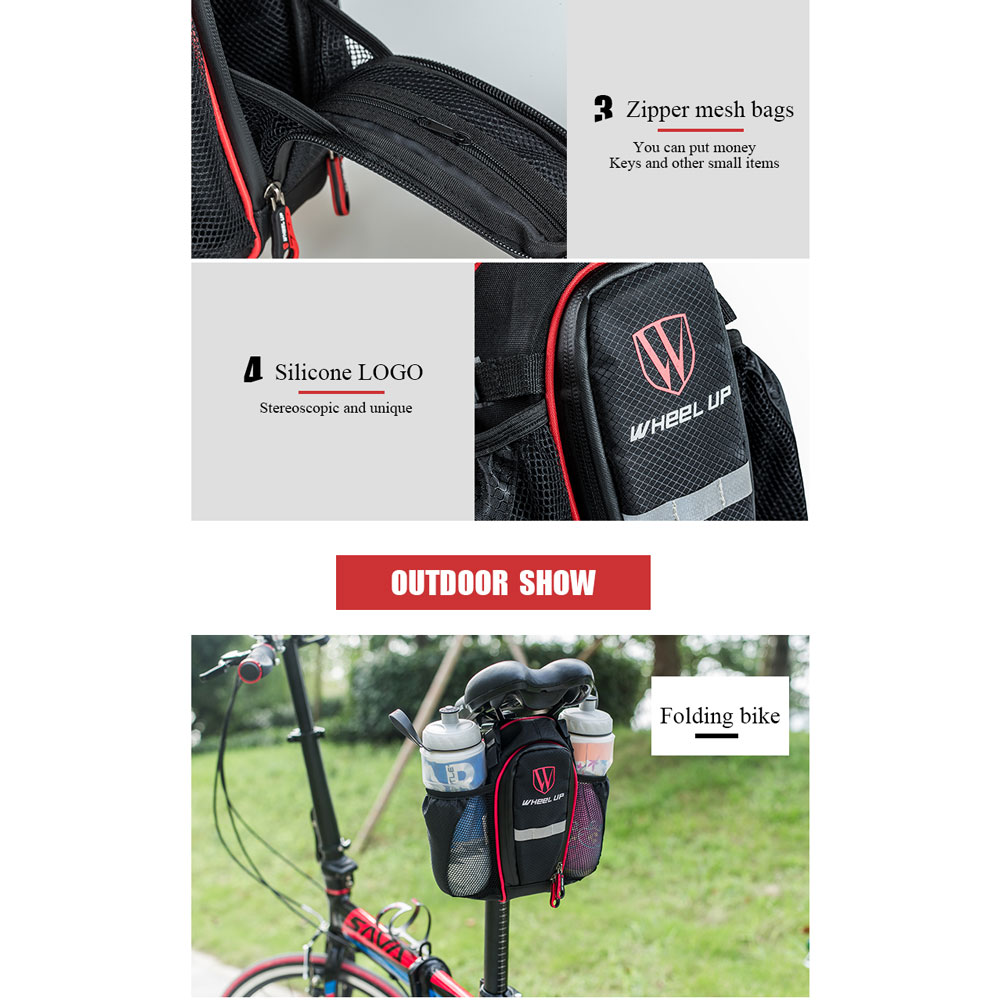Wheel Up Tas Sepeda Double Bottle Waterproof Black 9