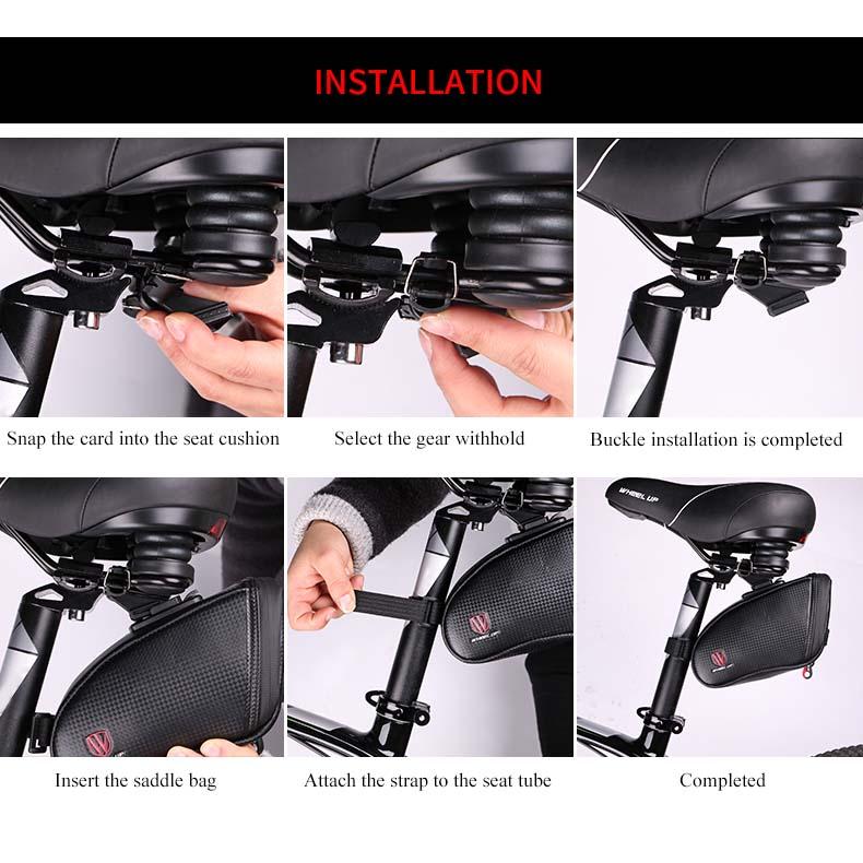 Wheel Up Tas Sepeda Waterproof Bag - Black - 10 .