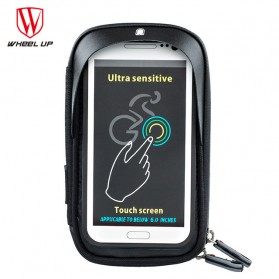 Wheel Up Smartphone Holder Sepeda Waterproof 6 Inch - AF113 - Black