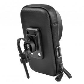 Wheel Up Smartphone Holder Sepeda Waterproof 6 Inch - AF113 - Black - 2