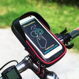 Wheel Up Smartphone Holder Sepeda Waterproof 6 Inch - AF113 - Black - 5