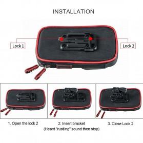 Wheel Up Smartphone Holder Sepeda Waterproof 6 Inch - AF113 - Black - 7