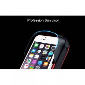 Wheel Up Smartphone Holder Sepeda Waterproof 6 Inch - AF113 - Black - 9