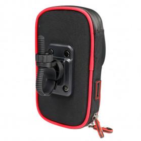 Wheel Up Smartphone Holder Sepeda Waterproof 6 Inch - AF113 - Black - 10