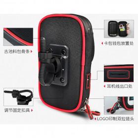 Wheel Up Smartphone Holder Sepeda Waterproof 6 Inch - AF113 - Black - 11