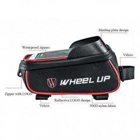Wheel Up Tas Sepeda Waterproof Smartphone 6 Inch - 023 - Red/Black - 6