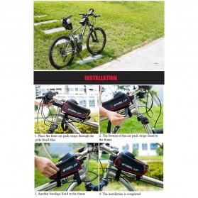 Wheel Up Tas Sepeda Waterproof Smartphone 6 Inch - 023 - Red/Black - 9