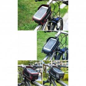 Wheel Up Tas Sepeda Waterproof Smartphone 6 Inch - 023 - Red/Black - 10