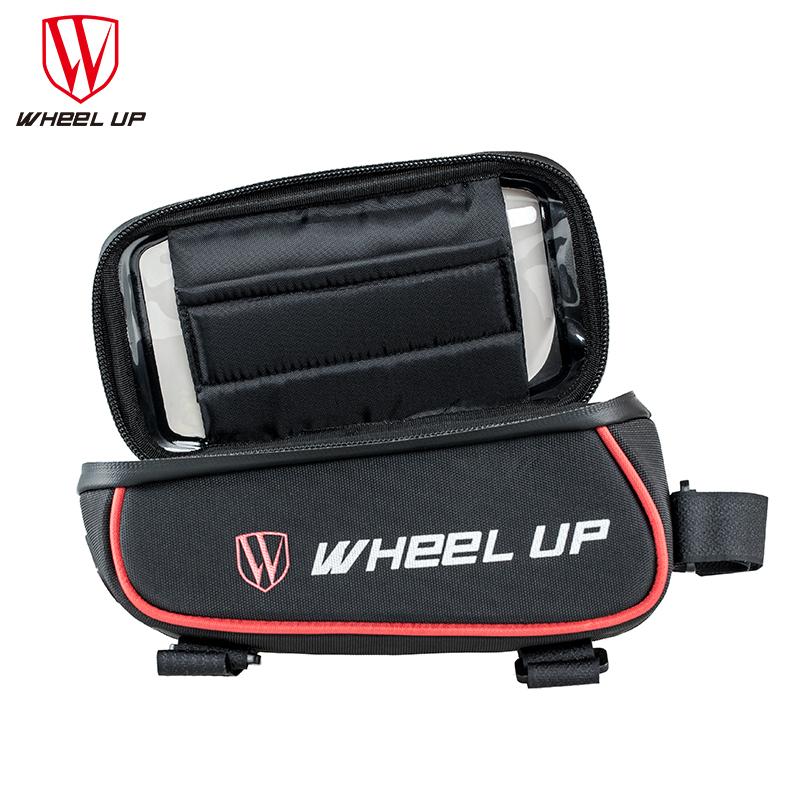 Wheel Up Tas Sepeda Waterproof Smartphone 6 Inch - Red/Black -