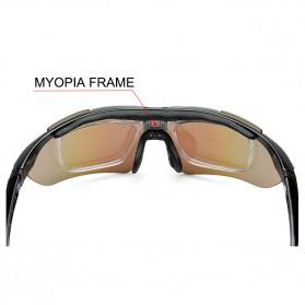 ROBESBON Kacamata Sepeda dengan 5 Lensa Myopia - Black - 5