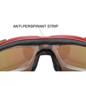 ROBESBON Kacamata Sepeda dengan 5 Lensa Myopia - Black - 6