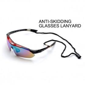 ROBESBON Kacamata Sepeda dengan 5 Lensa Myopia - Black - 8