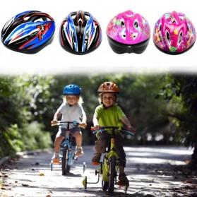 KUYOU Helm Sepeda Anak 3-8 Tahun - KY007 - Blue - 4