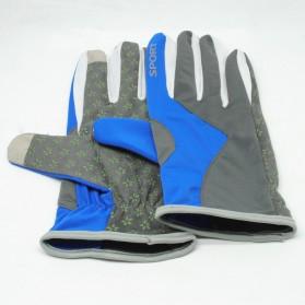 Sarung Tangan Olahraga Motor Full Finger - KP-N804 - Black/Blue - 1