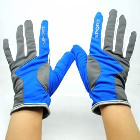 Sarung Tangan Olahraga Motor Full Finger - KP-N804 - Black/Blue - 2