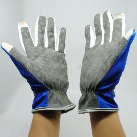 Sarung Tangan Olahraga Motor Full Finger - KP-N804 - Black/Blue - 3