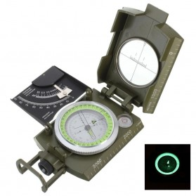 ROBESBON Kompas Militer dengan Clinometer - ZH118 - Green